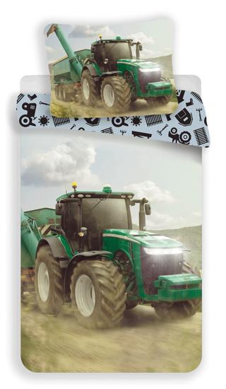 Obrázek z Povlečení fototisk Traktor green 140x200, 70x90 cm