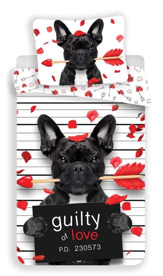 Obrázek z Povlečení fototisk Bulldog heart 1400x200, 70x90 cm