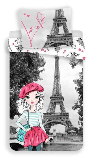 Obrázek z Povlečení Paris grey 140x200, 70x90 cm
