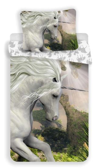 Obrázek z Povlečení Jednorožec white 140x200, 70x90 cm