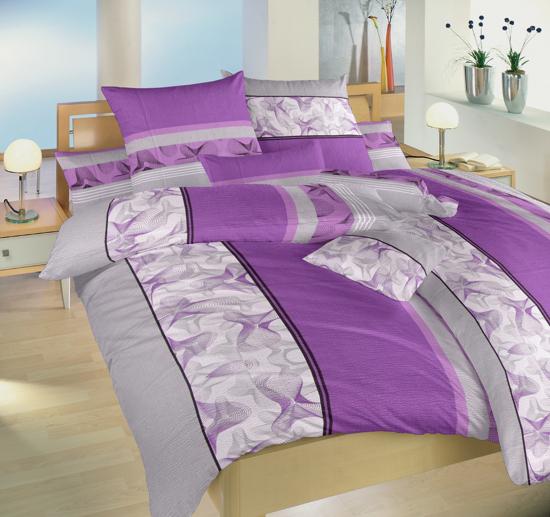 Obrázek z Krepové povlečení Medúza fialová 140x220, 70x90 cm II.jakost