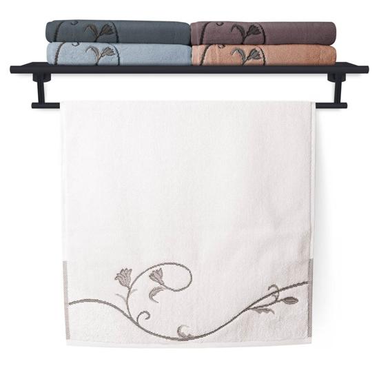 Obrázek z Ručník Terry Floral Dance 036 bílý 50x100 cm
