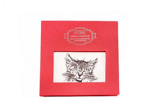 Obrázek z Kapesník L35 dárková krabička Kočka - 1 ks