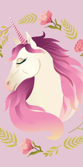 Obrázek z Osuška Unicorn flowers 70x140 cm