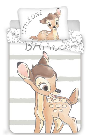 Obrázek z Disney povlečení do postýlky Bambi stripe baby 100x135, 40x60 cm
