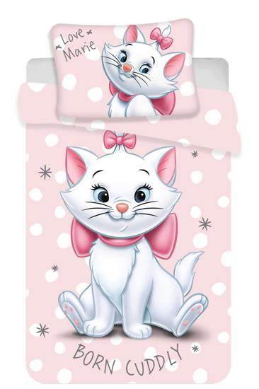 Obrázek z Disney povlečení do postýlky Marie cat dots  baby 100x135, 40x60 cm