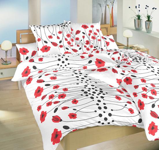Obrázek z Povlečení bavlna Vlčí máky červené 40x50 cm povlak