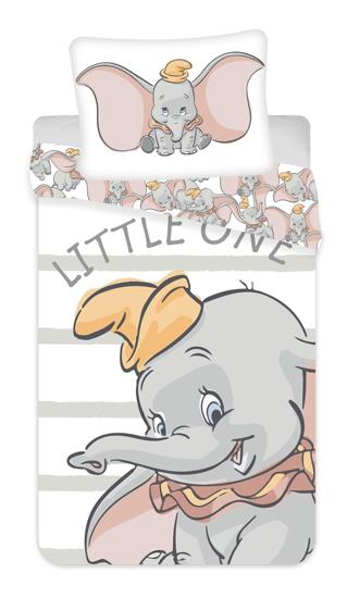 Obrázek z Povlečení Dumbo grey stripe 140x200, 70x90 cm