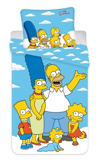 Obrázek z Povlečení Simpsons Family clouds 02 140x200, 70x90 cm