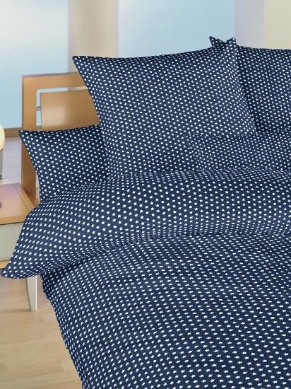 Obrázek z Povlečení bavlna do postýlky Hvězdička bílá na tmavě modrém 90x130, 45x60 cm