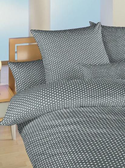 Obrázek z Povlečení bavlna do postýlky Hvězdička bílá na šedém 90x130, 45x60 cm