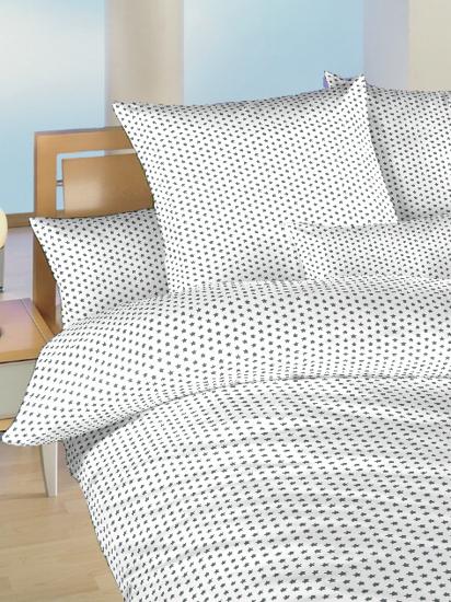 Obrázek z Povlečení bavlna do postýlky Hvězdička šedá na bílém 90x130, 45x60 cm