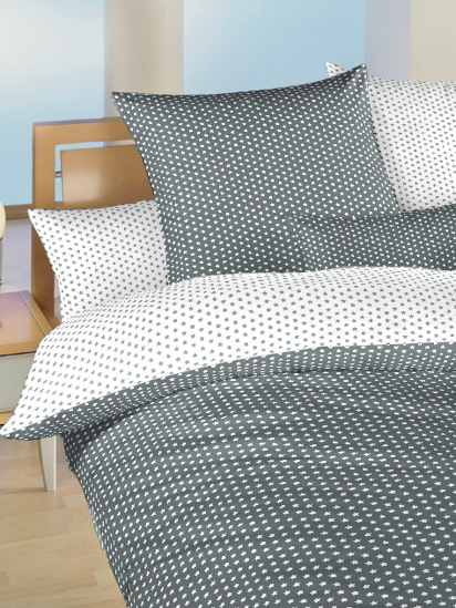 Obrázek z Povlečení bavlna do postýlky Hvězdička bílá/šedá DUO 90x130, 45x60 cm