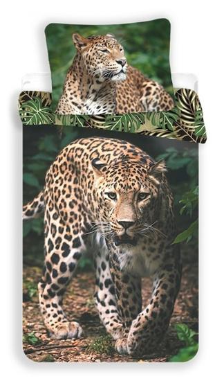 Obrázek z Povlečení fototisk Leopard green 140x200, 70x90 cm