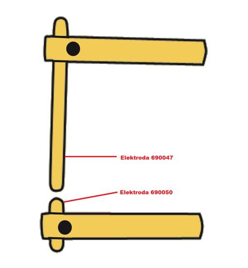 Obrázek z Elektroda pro čelisti XA1 Telwin 690050