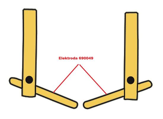 Obrázek z Elektroda pro čelisti XA2 Telwin 690049