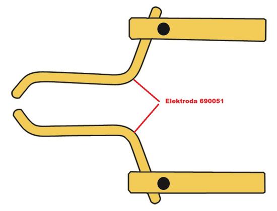 Obrázek z Elektroda pro čelisti XA4 Telwin 690051