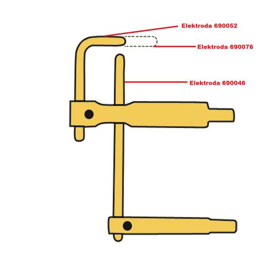 Obrázek z Elektroda pro čelisti XA5 Telwin 690052