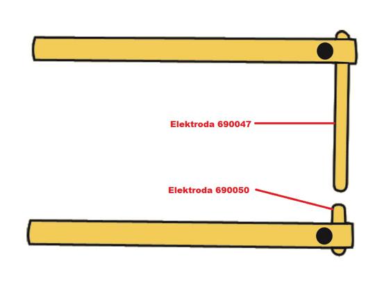 Obrázek z Elektroda pro čelisti XA6 Telwin 690050