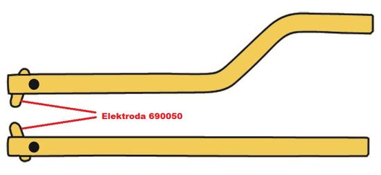 Obrázek z Elektroda pro čelisti XA8 Telwin 690050