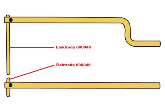 Obrázek z Elektroda pro čelisti XA9 Telwin 690049