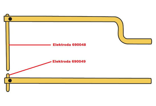 Obrázek z Elektroda pro čelisti XA9 Telwin 690048