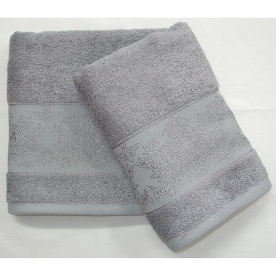Obrázek z Bambusový ručník Jasmin šedý 50x100 cm
