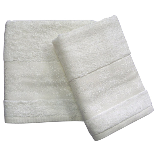 Obrázek z Bambusový ručník Jasmin smetanový 50x100 cm