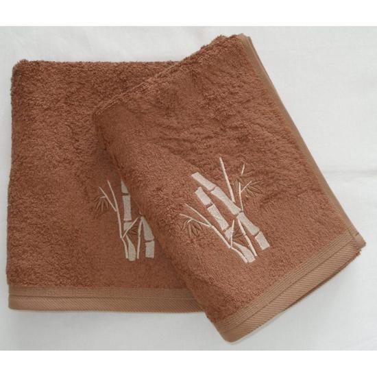 Obrázek z Bambusový ručník Boston oříškový 50x100 cm