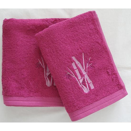 Obrázek z Bambusový ručník Boston cyklaménový 50x100 cm