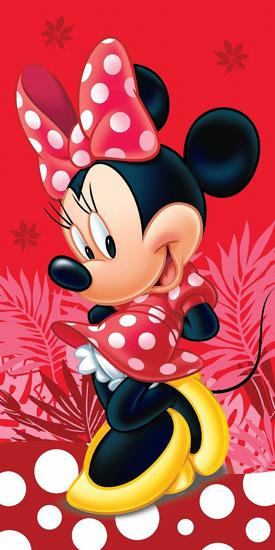 Obrázek z Osuška Minnie Red Spot 70x140 cm