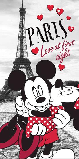 Obrázek z Osuška Mickey and Minnie in Paris 70x140 cm