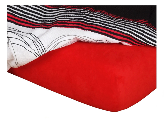 Obrázek z Jersey prostěradlo červené 120x200x18 cm II.jakost