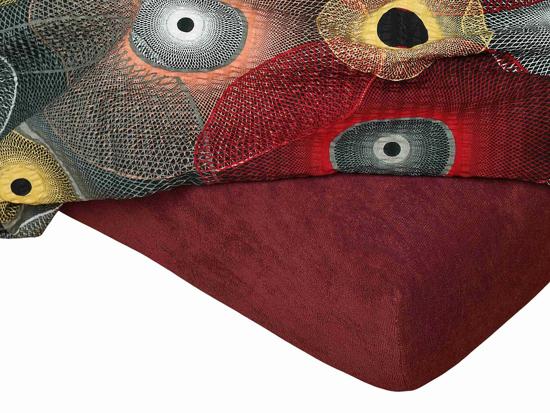 Obrázek z Froté prostěradlo 200x220x15 cm bordó II.jakost