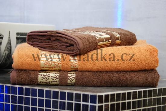 Obrázek z Bambusová osuška Exclusive 70x140 cm tmavě hnědá