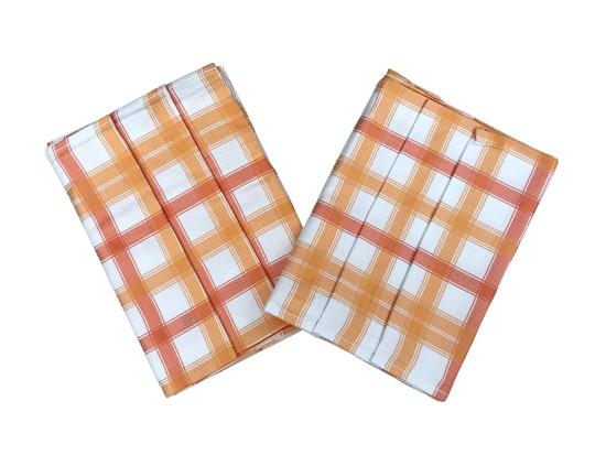Obrázek z Utěrka Bambus 50x70 cm Kostka střední oranžová 3 ks