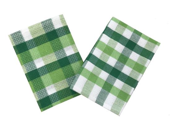 Obrázek z Vaflové utěrky Vaflo 48x68 cm zeleno-bílá 2 ks