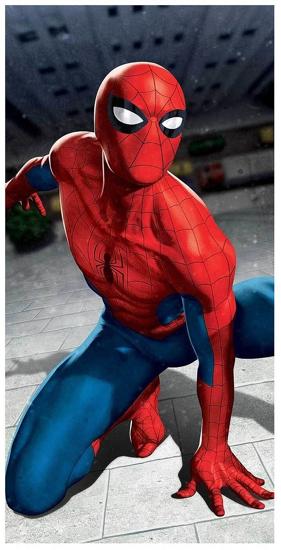 Obrázek z Osuška Spiderman blue 03 70x140 cm