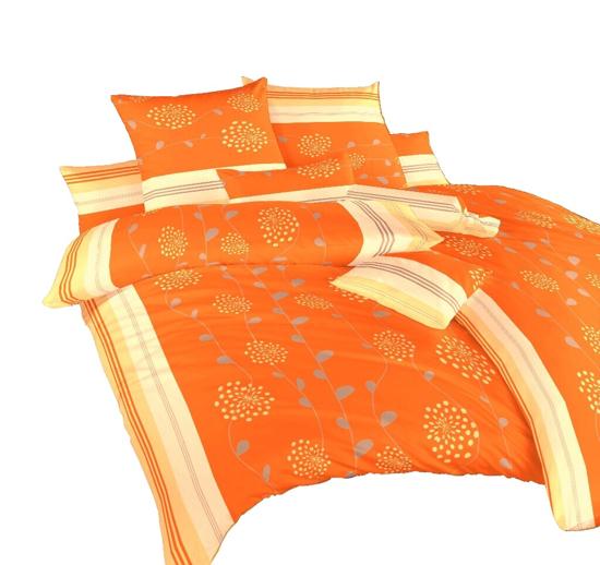 Obrázek z Povlečení krep Liána oranžová 140x220, 70x90 cm