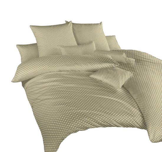 Obrázek z Povlečení krep Puntík bílý na opálu 240x200, 2x70x90 cm