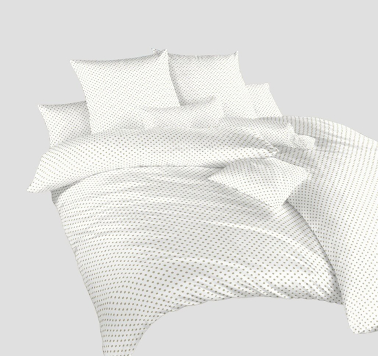 Obrázek z Povlečení krep Puntík opál na bílém 70x90 cm povlak