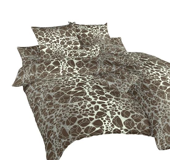 Obrázek z Povlečení krep Káva hnědá 200x200 cm povlak