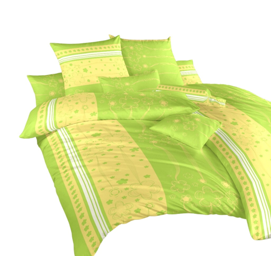 Obrázek z Povlečení krep Flower kiwi 140x220 cm povlak