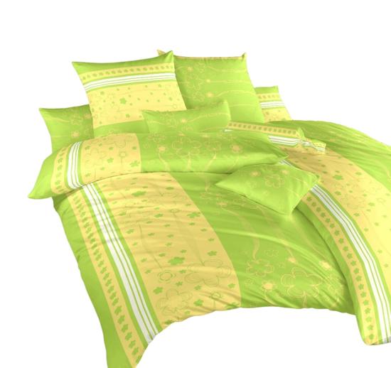 Obrázek z Povlečení krep Flower kiwi 240x200, 2x70x90 cm