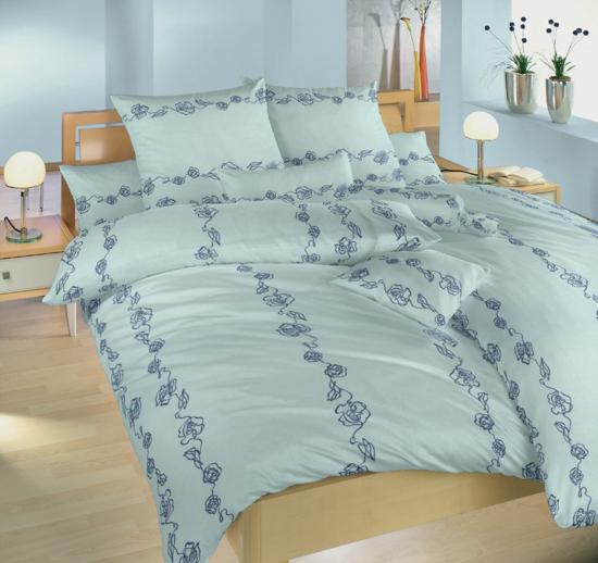 Obrázek z Povlečení flanel Abstraktní růže modré 140x200, 70x90 cm