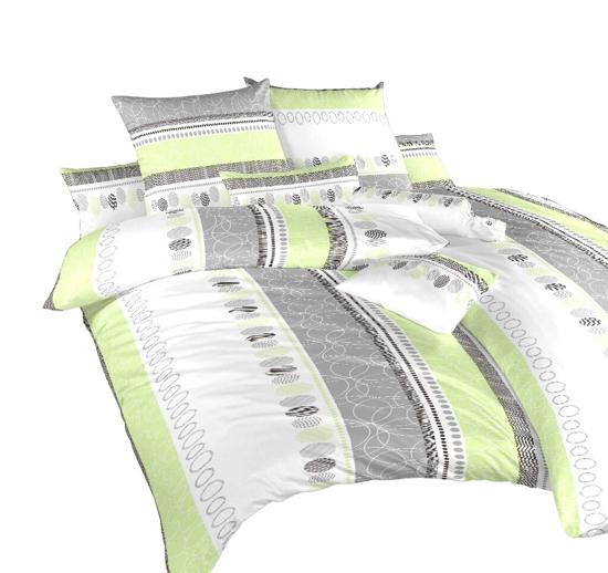 Obrázek z Povlečení flanel Ateliér zelený 140x240 cm povlak
