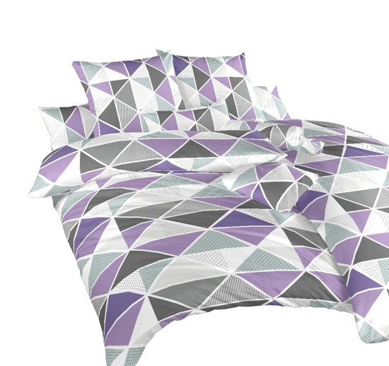 Obrázek z Povlečení krep Pyramidy fialové 140x200 cm povlak