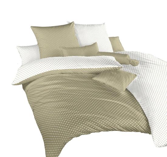 Obrázek z Povlečení krep Puntík bílý/opál DUO 220x220 cm povlak