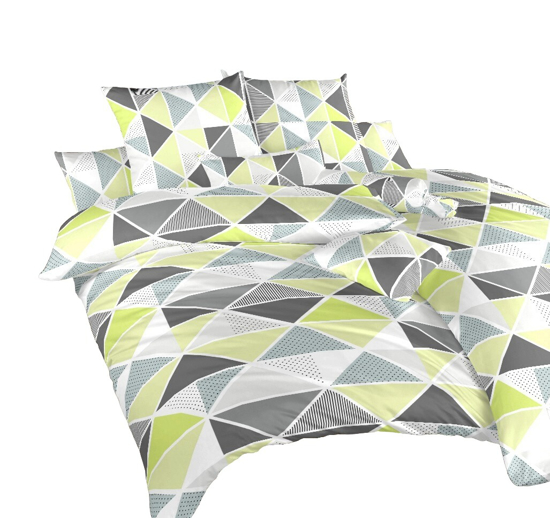 Obrázek z Povlečení krep Pyramidy kiwi 140x200, 70x90 cm