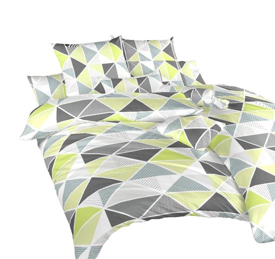 Obrázek z Povlečení krep Pyramidy kiwi 220x220 cm povlak